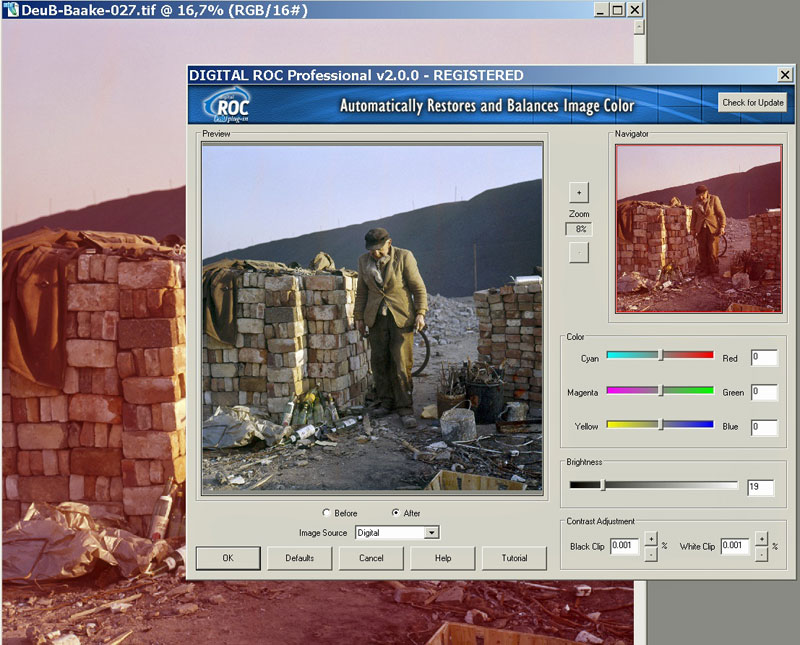 Digital ROC plugin - Farbrestaurierung